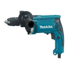 Taladro percutor 710w reversible sin llave maletin 13 mm hp1631k makita