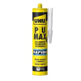 Cola madera poliuretano tixotropico rapido cartucho 340 gr pu max uhu         101937