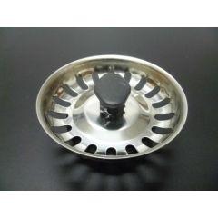 Tapon fregadero rejilla 8 tetones ø113mm acero inox blanco saneaplast 751837