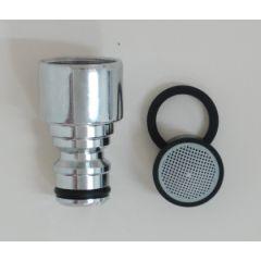 Adaptador automatico rosca hembra m-22 laton cromado saneaplast 551376