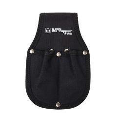 Portaherramientas profesional 02 bolsillos nylon negro minitopper cs3051 total