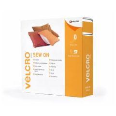 Cinta textil 20mmx 25mt blanco marca velcro® vel-ec60286