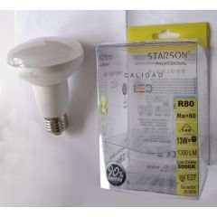Lampara iluminacion reflectora led starson e27 12w 1300 3000k r80 110251