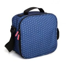 Bolsa porta alimentos 4 hermeticos poliester azul dots tatay 1167508