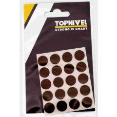 Tapon cubretornillo adhesivo 13mm nogal nivel 20 pz nv107655