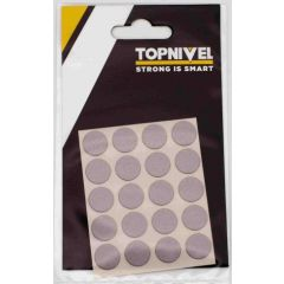 Tapon cubretornillo adhesivo 13mm plata nivel 20 pz nv107656