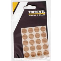 Tapon cubretornillo adhesivo 13mm roble claro nivel 20 pz nv107658