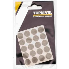 Tapon cubretornillo adhesivo 13mm textil oscuro nivel 20 pz nv107660