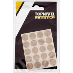 Tapon cubretornillo adhesivo 13mm textil beige nivel 20 pz nv107662