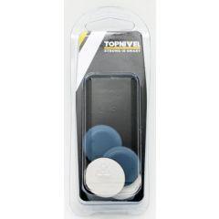 Patin deslizador mueble adhesivo sd 25mm me gris nivel 4 pz nv107683