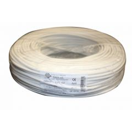 Cable electricidad manguera redondo 750v 2x1mm blanco cemi