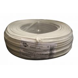 Cable electricidad manguera plano 2x0,50mm blanco cemi