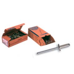 Remache fijacion cabeza ancha 4x10mm aluminio c12 bralo 500 pz 01040004010