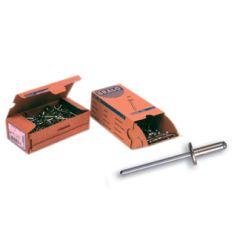 Remache fijacion cabeza ancha 4x16mm aluminio c12 bralo 250 pz 01040004016