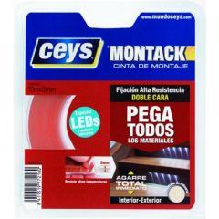 Cinta adhesiva doble cara 08mmx 10mt montack ceys 507218