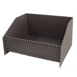 Cesta calefaccion quemador pellets hierro negro 30x25x17cms imex el zorro 71416