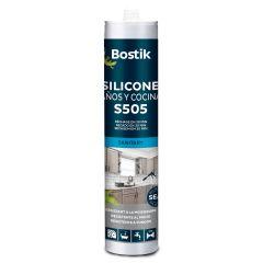 Silicona acida cocinas y baños antimoho bostik blanco 30606980 280 ml