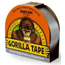 Cinta adhesiva americana 48mmx 11mt gris silver tricapa doble grosor gorilla 3044910