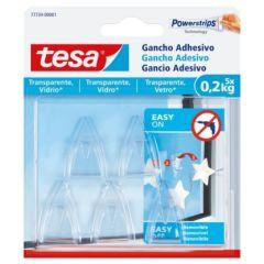 Colgador hogar adhesivo reutilizable 0,2kg plastico transparente tesa tape 5 pz 77734-00001-00