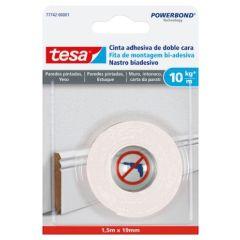 Cinta adhesiva doble cara 19mmx  1,5mt pared pint tesa powerbond tesa tape 77742-00001-00
