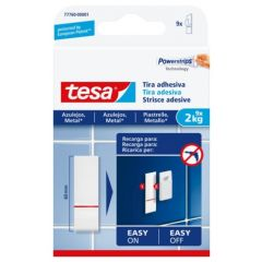 Clavo hogar adhesivo reutilizable recambio 2kg blanco tesa tape 9 pz 77760-00001-00