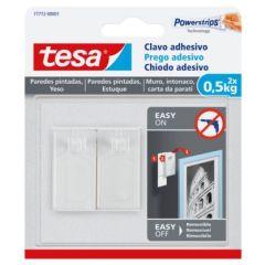 Colgador hogar adhesivo reutilizable clavo 0,5kg plastico blanco tesa tape 2 pz 77772-00001-00