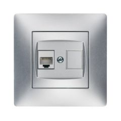 Base telefono empotrar abs aluminio famatel habitat 15 9237