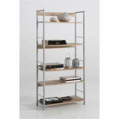 Estanteria 5 baldas 74x30x150cm madera/metal kit closet 32001
