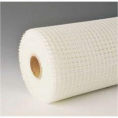 Malla construccion revoco yeso 1x50mt fibra vidrio blanco seimark