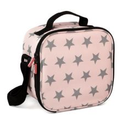 Bolsa porta alimentos 4 hermeticos poliester rosa stars tatay 1167506