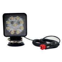 Proyector iluminacion led vehiculo magnetico 12-24v/27w/ip67 tecnocem 20030