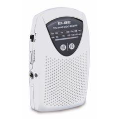 Radio portatil analogica 5,5x8,9x1,7cm blanco elbe 119385