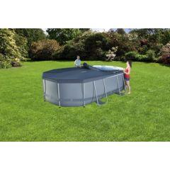 Cobertor piscina ovalado 418x230cm gris bestway 58425