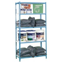 Estanteria ordenacion 5 baldas sin tornillos 1800x900x400mm azul/blanco simonrack 442100024189045