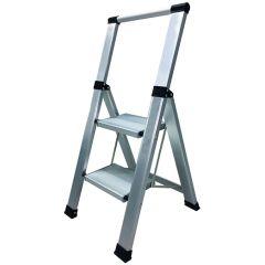Escalera domestica peldaño ancho 2 peldaños 0,44mt aluminio homelux