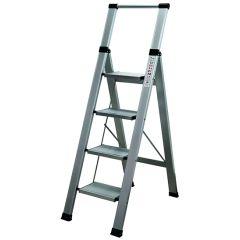 Escalera domestica peldaño ancho 4 peldaños 0,95mt aluminio homelux