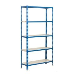 Estanteria ordenacion 5 baldas sin tornillos 1800x800x300mm metal azul/blanco simonrack 442100024188035