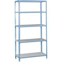 Estanteria ordenacion 5 baldas sin tornillos 1800x800x400mm metal azul/galvanizado simonrack 447100024188045
