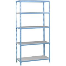Estanteria ordenacion 5 baldas sin tornillos 2000x1000x300mm metal azul/galvanizado simonrack 447100024201035