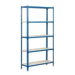Estanteria ordenacion 5 baldas sin tornillos 2000x1100x500mm metal azul/blanco simonrack 442100024201155