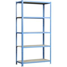 Estanteria ordenacion 5 baldas sin tornillos 1800x900x500mm metal azul/madera simonrack 448100025189055