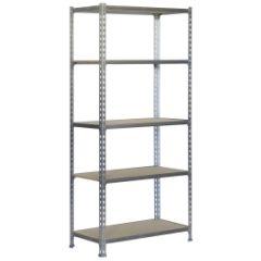 Estanteria ordenacion 5 baldas sin tornillos 2000x1000x300mm metal galvanizado/madera simonrack 778100025201035