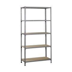 Estanteria ordenacion 5 baldas sin tornillos 2000x1000x400mm metal gris oscuro/madera simonrack 338100025201045