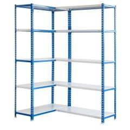 Estanteria ordenacion 10 baldas sin tornillos 2000x1400x400mm metal azul/blanco simonrack 442100027201410