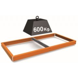 Estanteria adicional sin tornillos 600kg 1500x600mm metal naranja simontaller-simonforte simonrack 050100045150600
