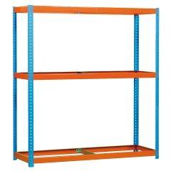 Estanteria ordenacion 3 baldas sin tornillos 600kg 2000x1800x900mm metal azul/naranja simontaller-simonforte simonrack 450100045201890