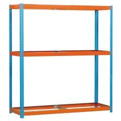 Estanteria ordenacion 3 baldas sin tornillos 400kg 2000x1500x450mm metal azul/naranja simontaller-ecoforte simonrack 450100047201540