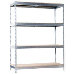 Estanteria ordenacion 4 baldas sin tornillos 400kg 2000x1200x450mm metal galvanizado/madera simontaller-ecoforte simonrack 778100047201244