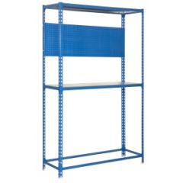 Estanteria ordenacion 3 baldas sin tornillos 200kg 2000x1200x400mm metal azul/galvanizado simonauto - simonracing simonrack 447100233201243