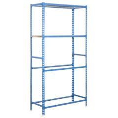 Estanteria ordenacion 4 baldas sin tornillos 200kg 2000x1000x400mm metal azul/galvanizado simonauto - simongarage simonrack 447100232201044